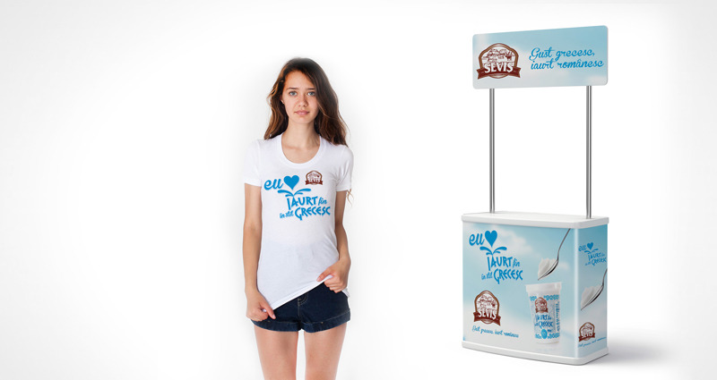 simulare stand si print tricou Sevis