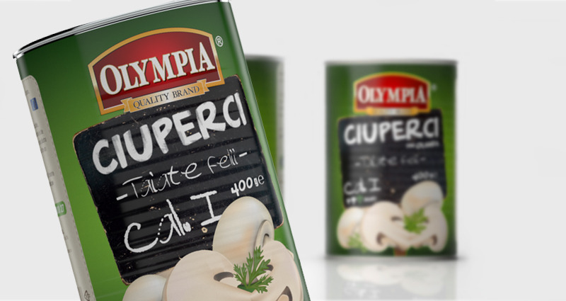 Cutii ciuperci Olympia - package design Dualmind