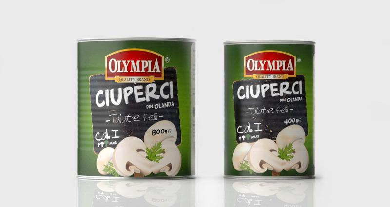 Dualmind design de ambalaj Olympia-ciuperci din Olanda